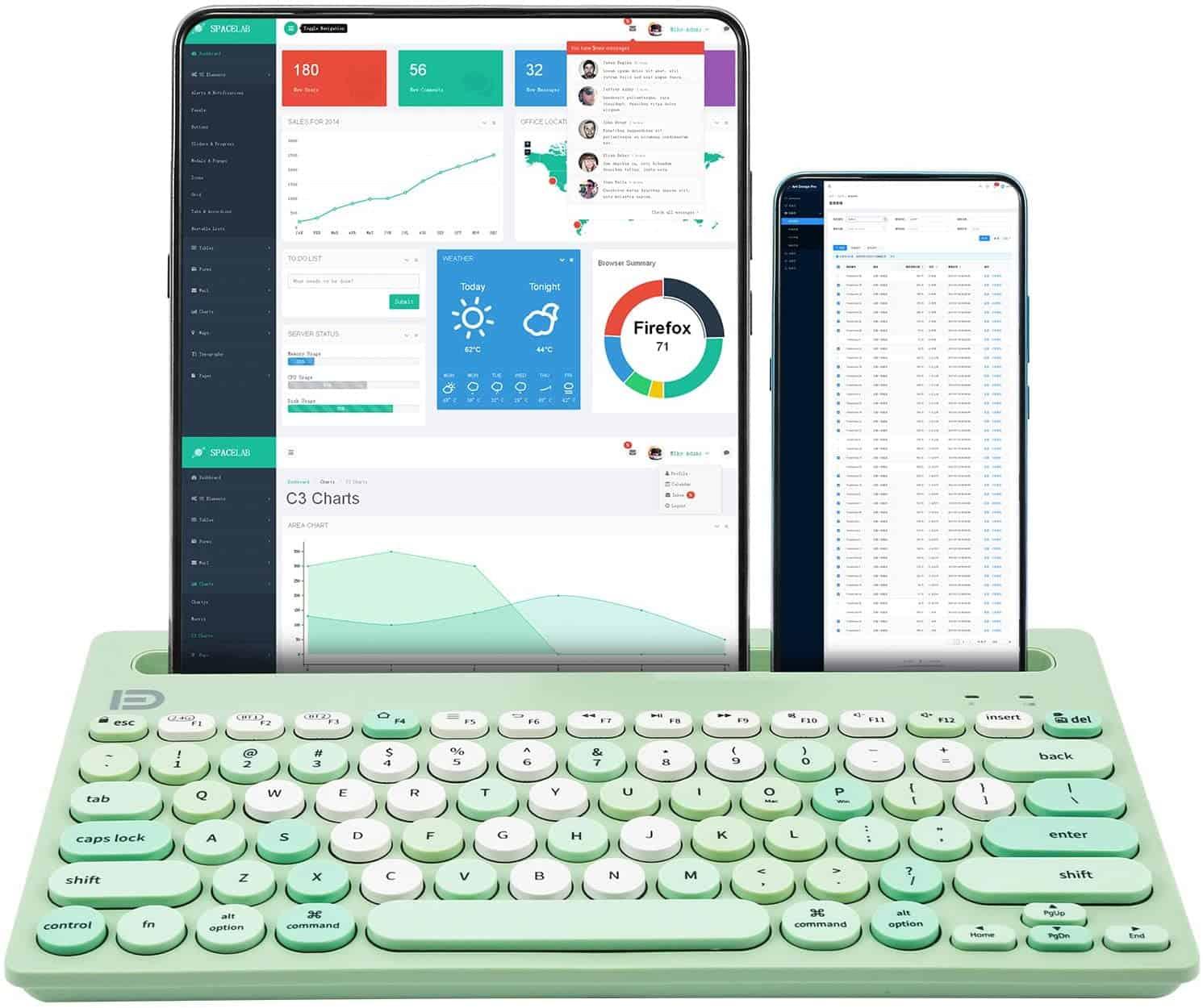 Huo JL green keyboard