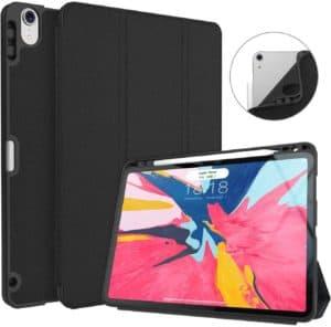 iPad Pro 11 Inch 2018 Case with Pencil Holder, Soke Premium Trifold Case