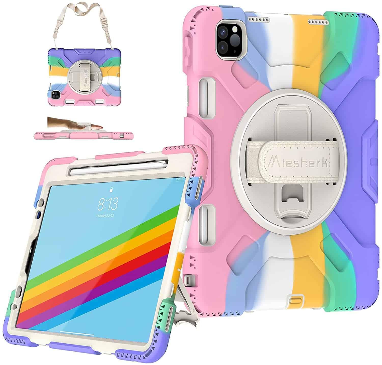 Miesherk iPad Pro Case Rainbow
