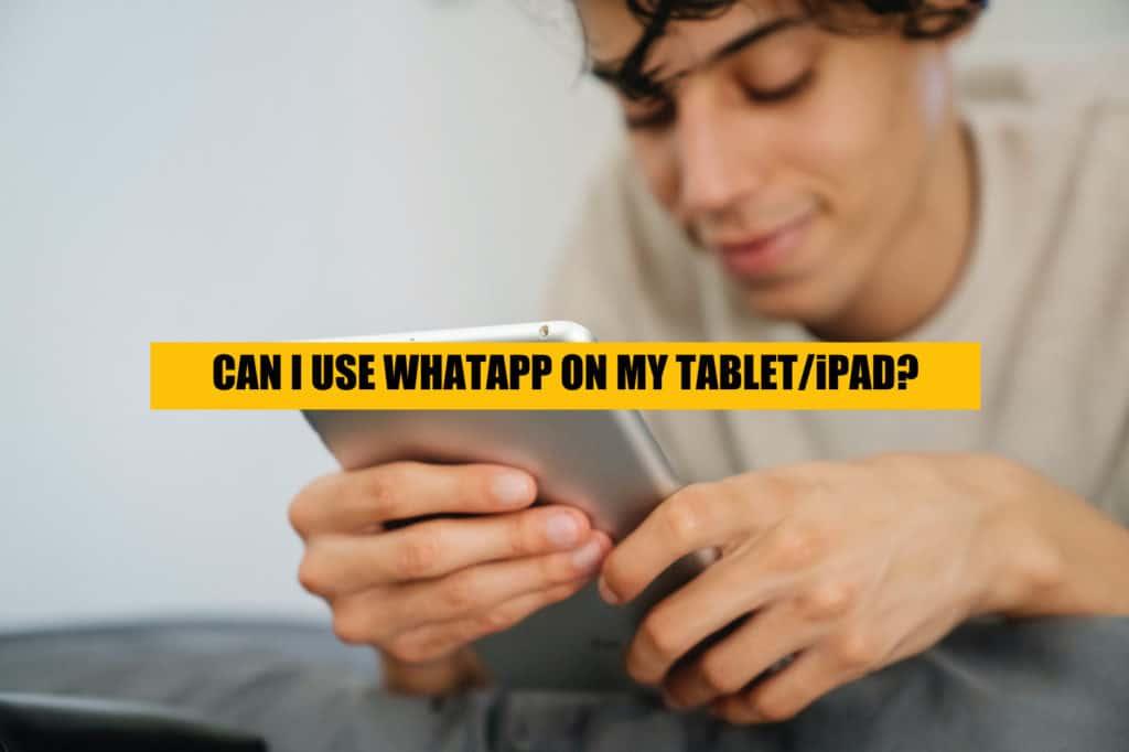 can i use whatapp on ipad